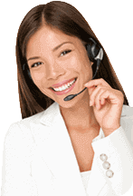 Image of smiling customer service agent ready to help.