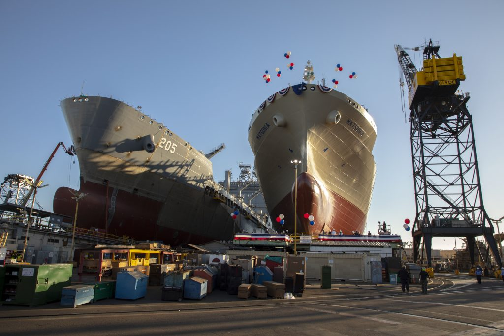 Matsonia ready to be christened at NASSCO