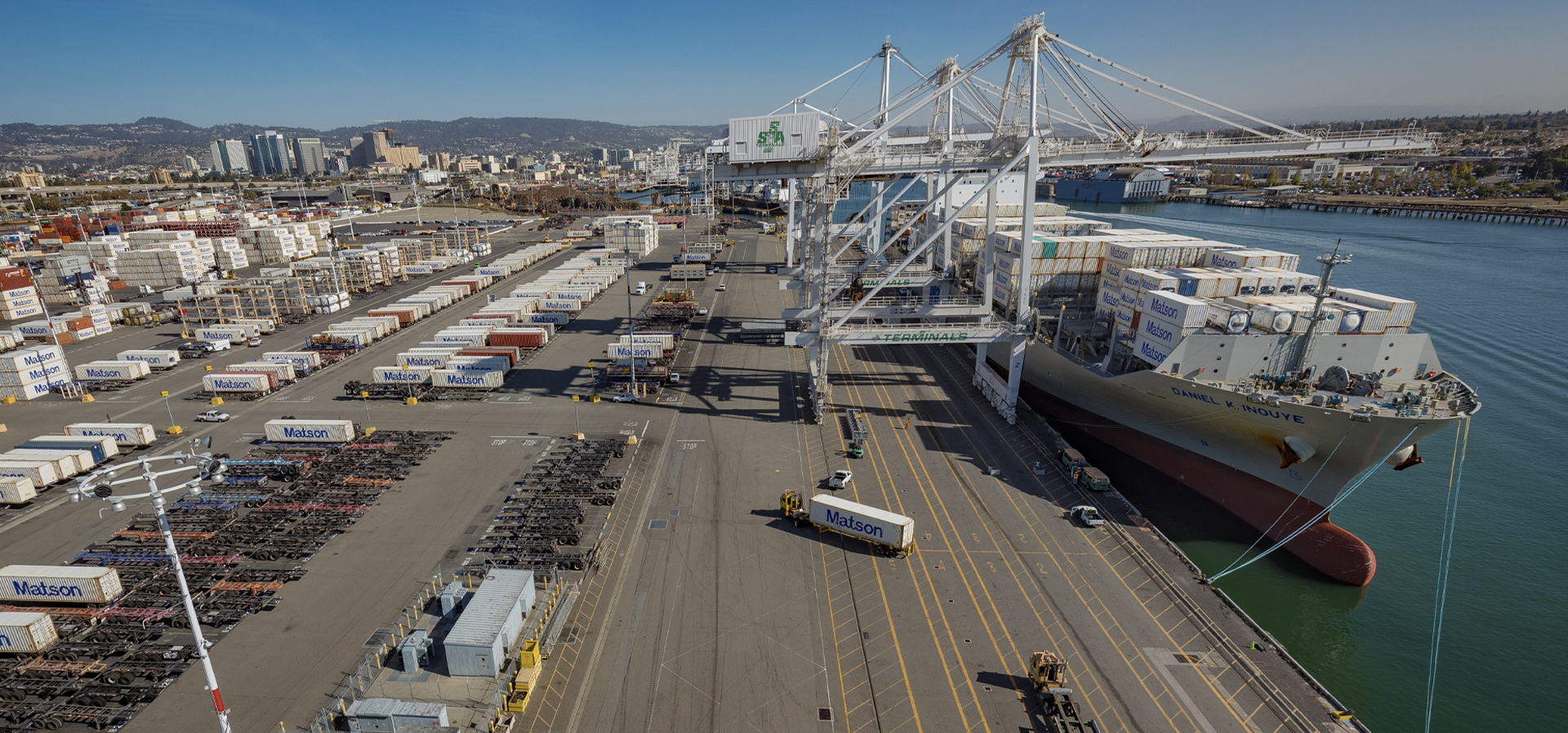 Matson containers are offloaded DKI in Oakland